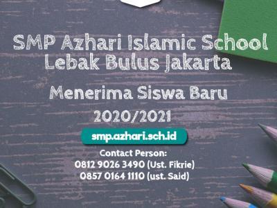 Hasil Test Penerimaan Siswa Baru SMP Azhari Islamic School Lebak Bulus Jakarta  T.P. 2020/2021 Tanggal Test 27 Oktober 2019